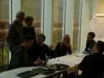 Workshop participants in discussion